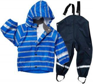 Didriksons Slaskeman Kids Waterproof Jacket and Trousers Set Blue Print
