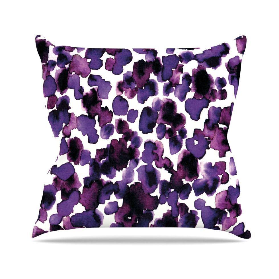 Paint Splat Throw Pillow Purple