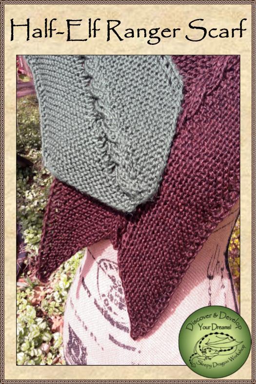 Half Elf Ranger Scarf Pattern By Karen Moffett Original Knitting