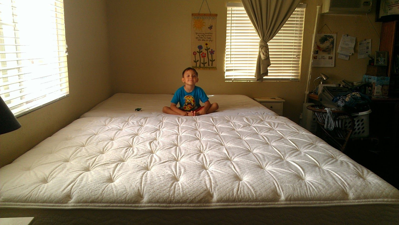 Our Huge New Family Bed Family bed, Room organization