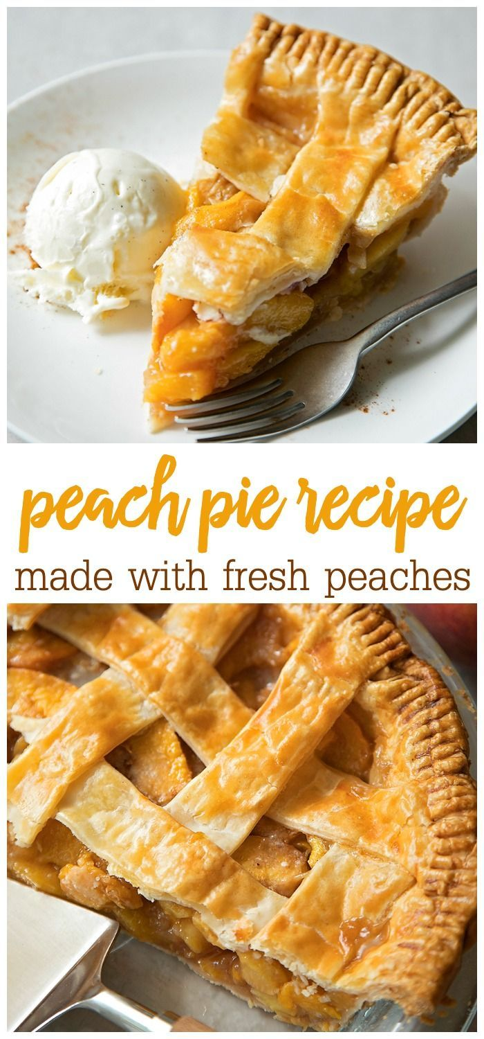 Peach Pie Recipe {With Fresh Peaches!} | Lil' Luna