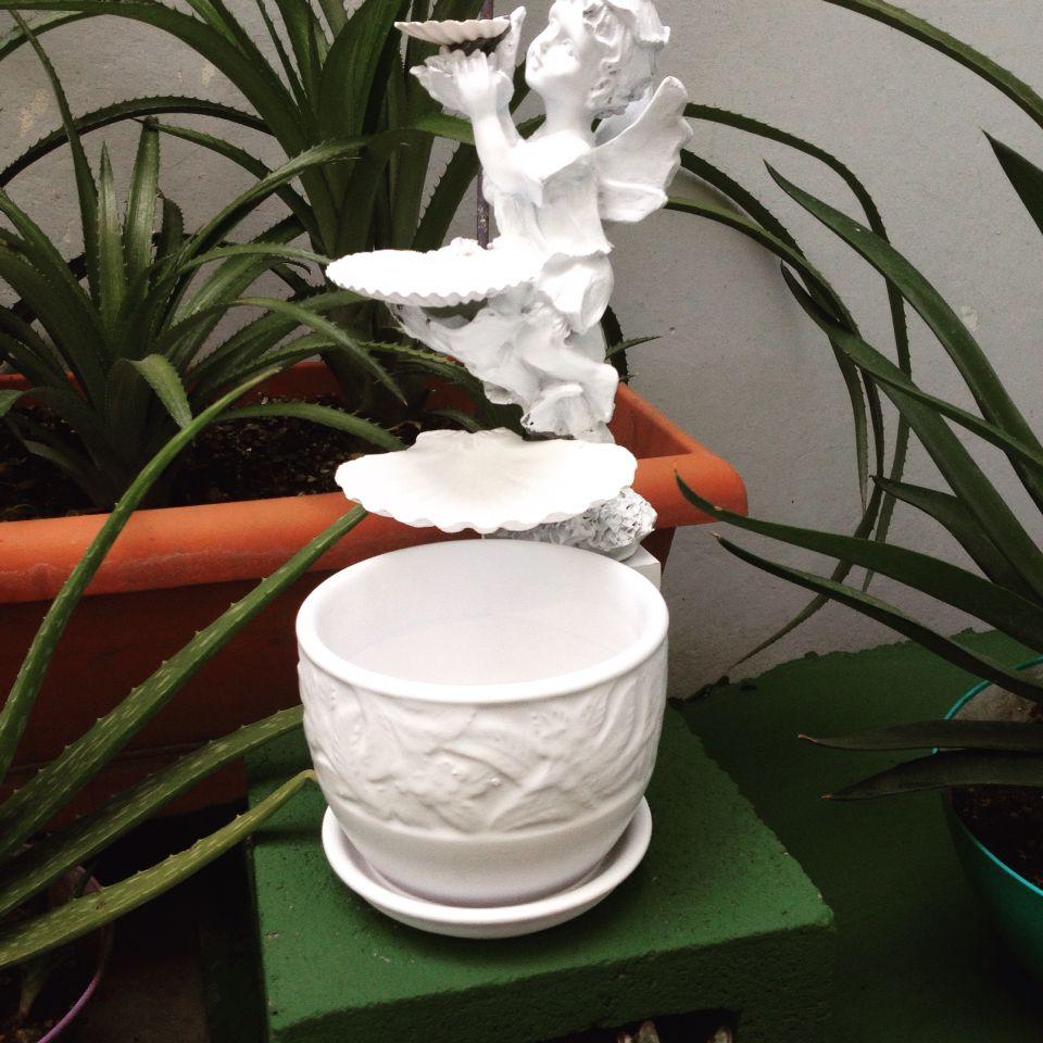DIY white miniature fountain