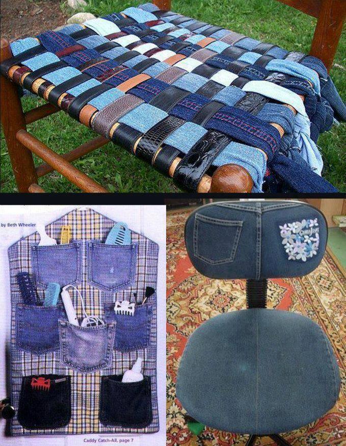 old jeans refashioned and repurposed denim Pinterest Aus alt - hand geflochtene viskose sitzsack designs von darono
