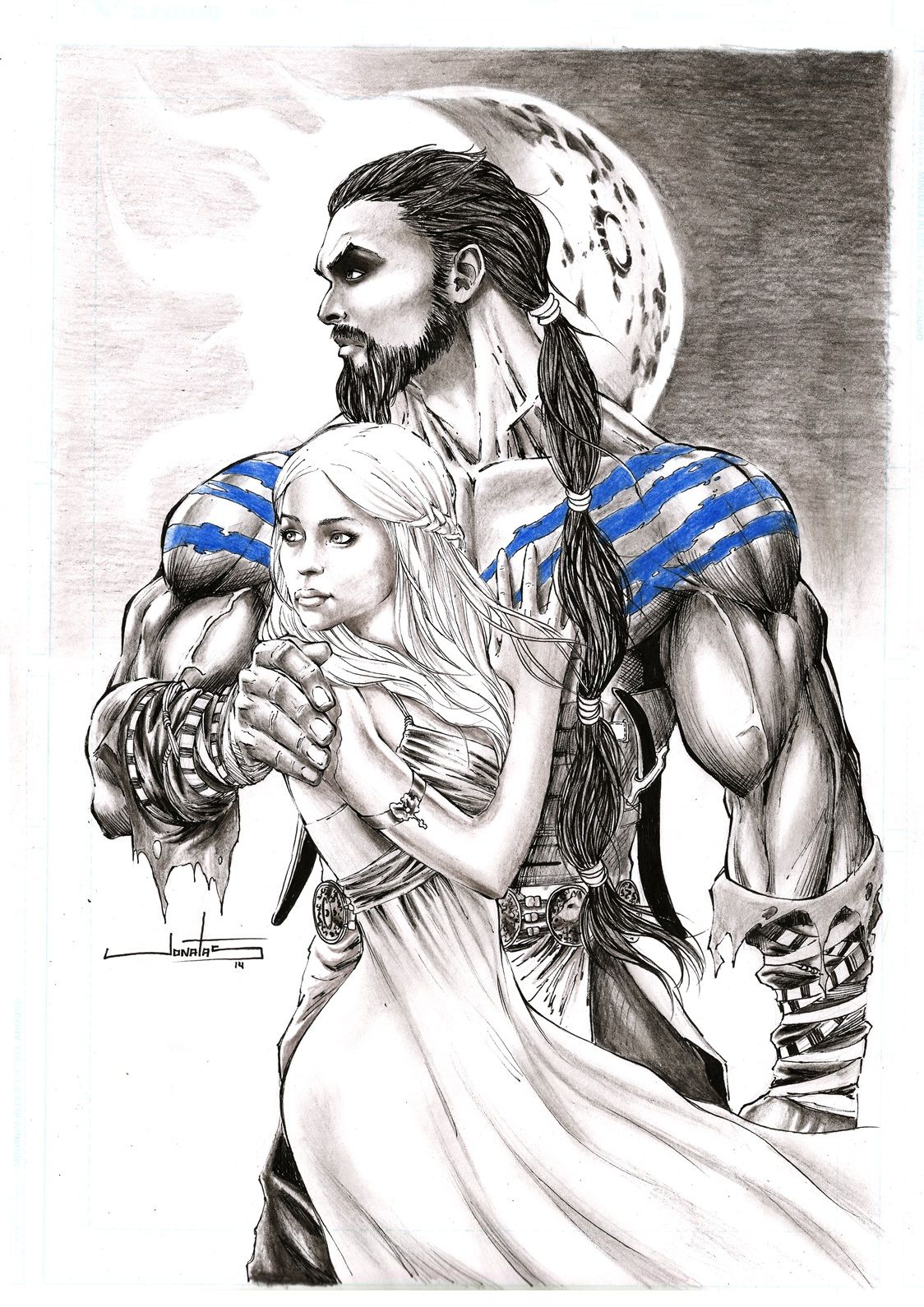 Drogo And Daenerys By Jonatas Game Of Thrones Tattoo Game Of