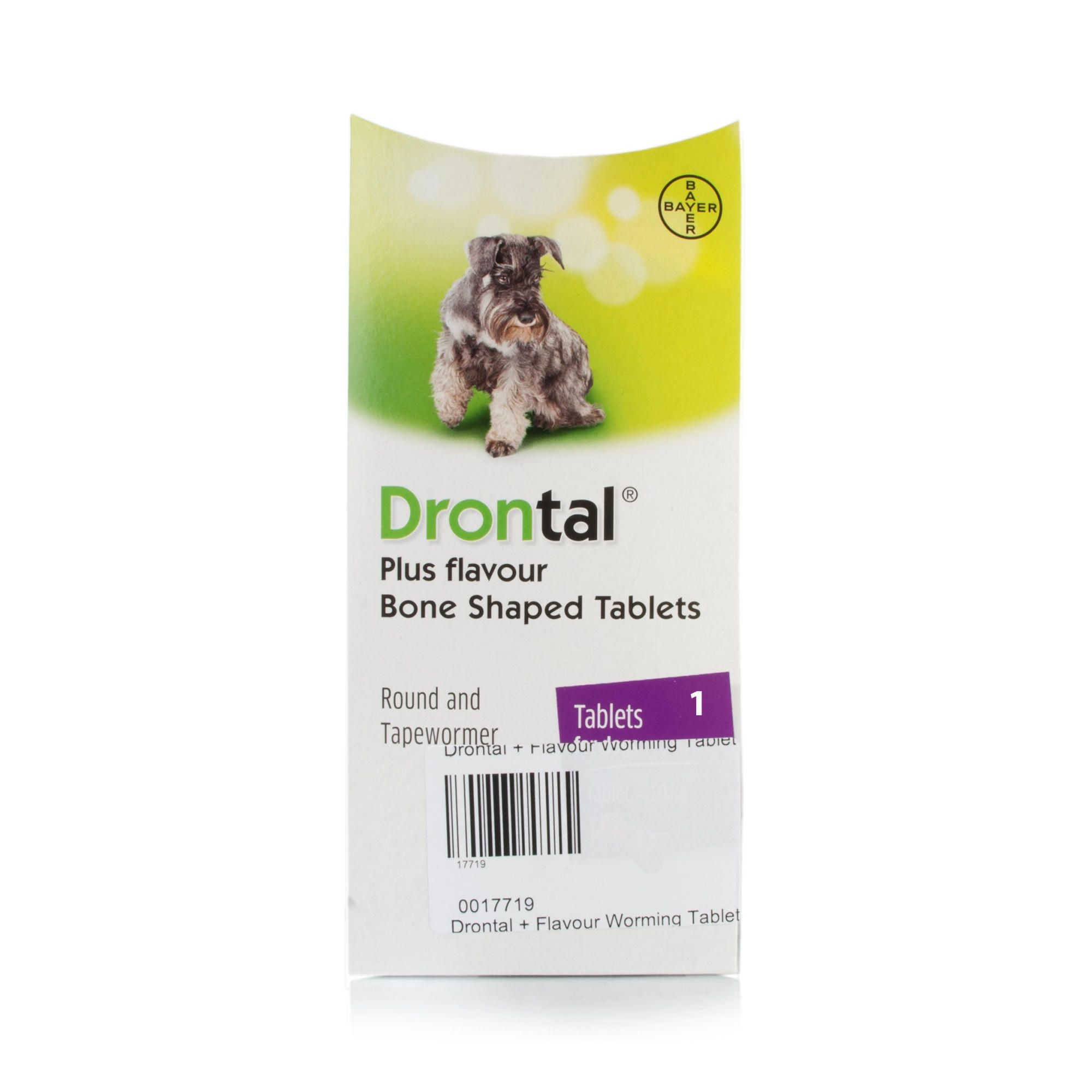 Drontal Tasty Dog Bone Shaped Wormer Tablet Intestinal Parasites Dog Bones Tasty