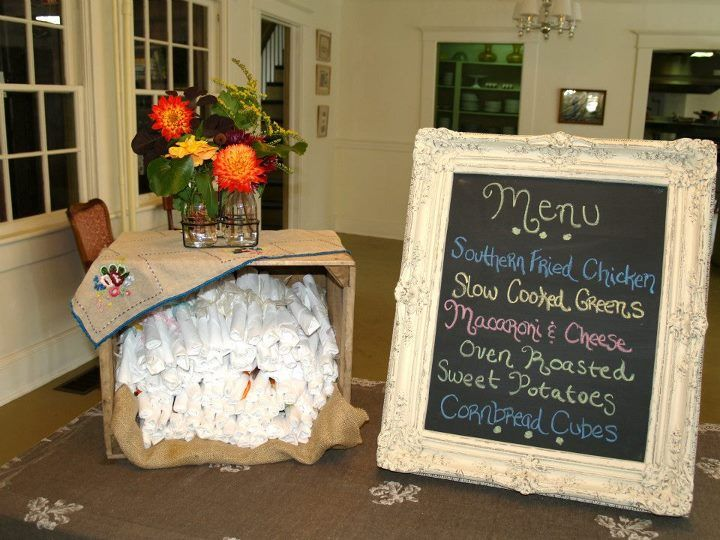 Use a simple chalk board to provide guests with your menu.