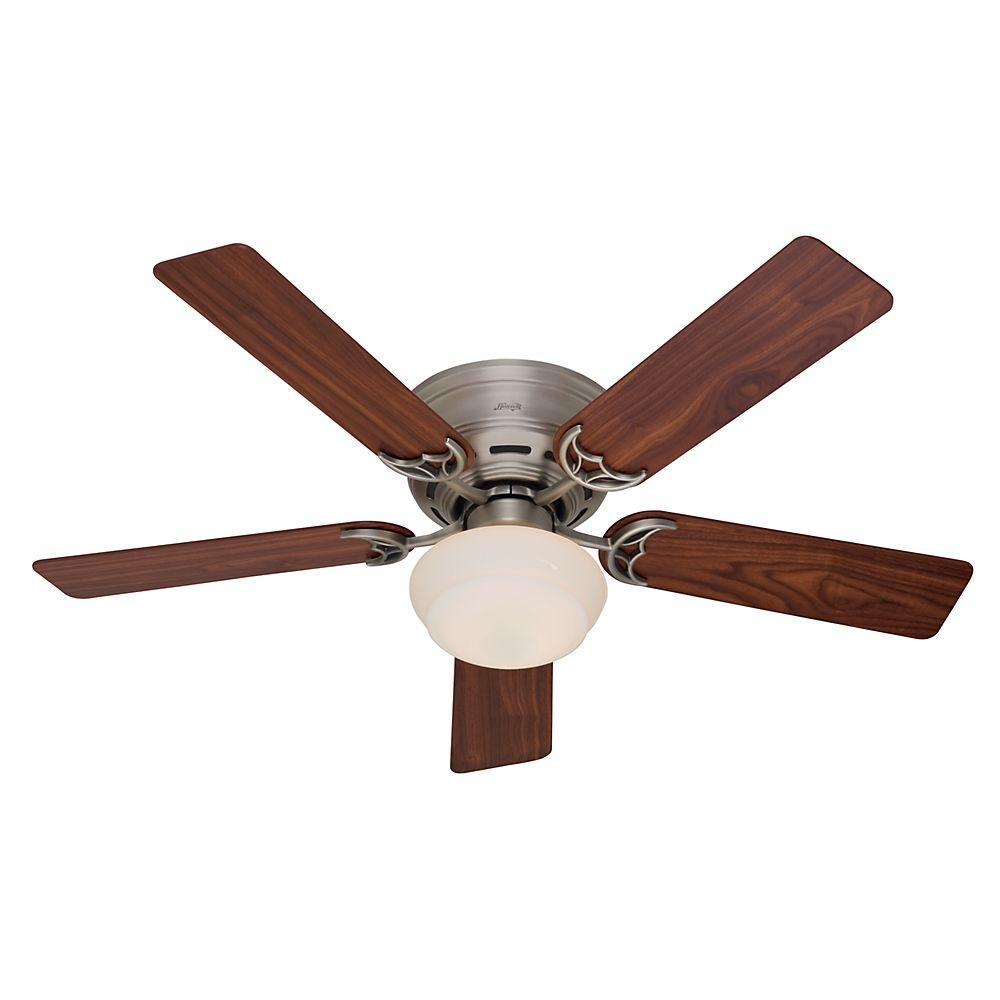 Hunter low profile iii plus in indoor white ceiling fan with