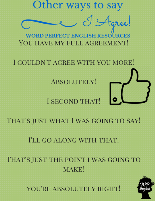 Other Ways to Say \'I Agree!\' Hope we inspire you! :) #learnlanguages ...