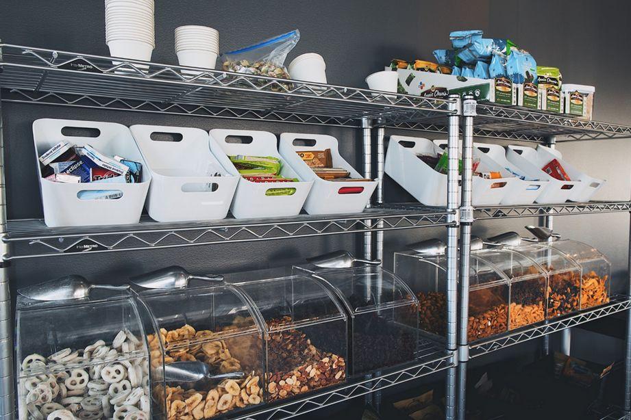 Ideas For Snack Bar Office Snacks Kitchen Bar Design Office Break Room