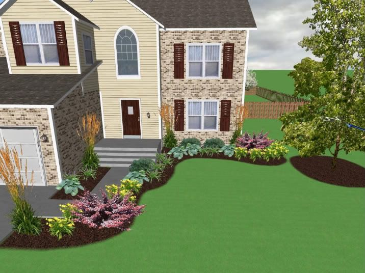 Landscaping ideas for front of house need a critical eye for Front lawn designs