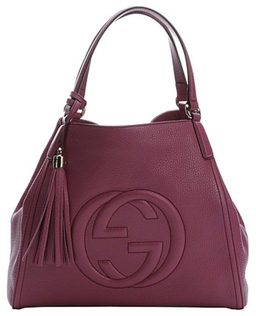 Gucci purple leather medium  Soho  hobo shoulder bag  8b04e6db72825