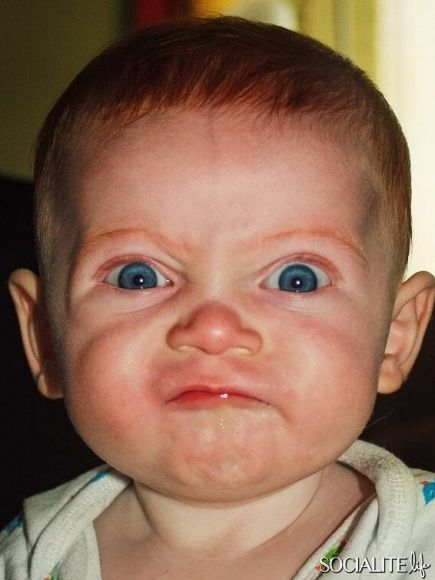 Funny angry face