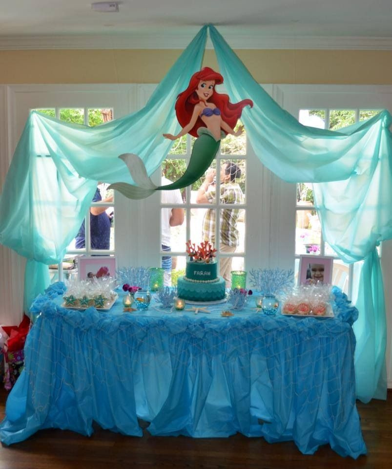 Birthday Table Presentation: Ariel Birthday Display