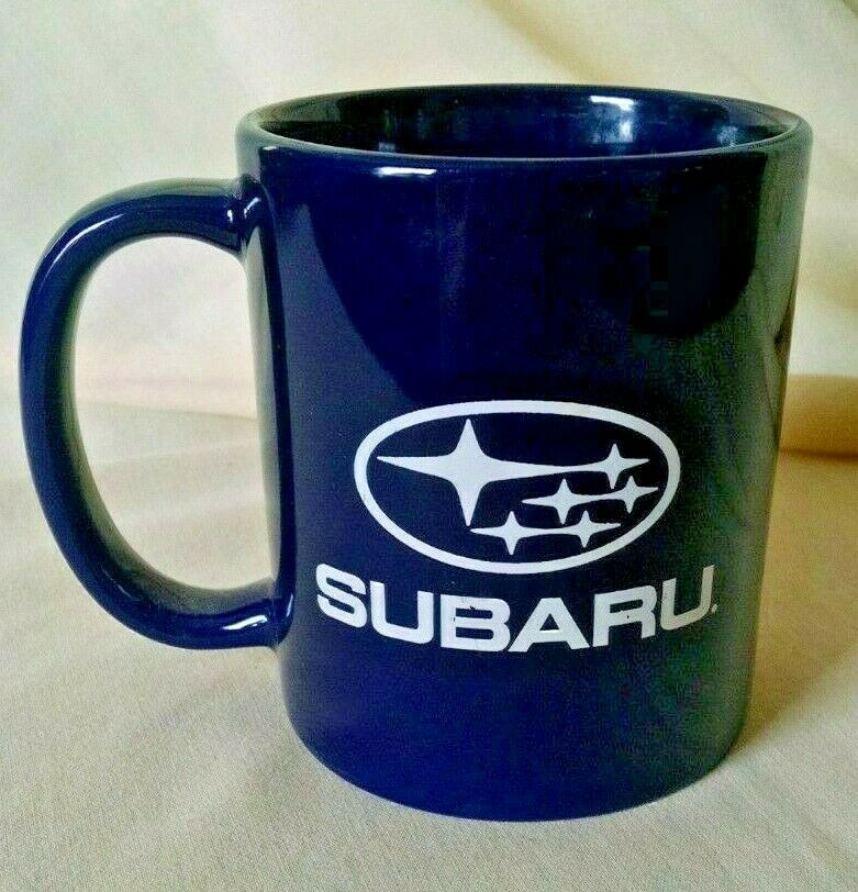 Subaru Mug My Valley Navy Blue White Used Coffee Tea Cup Cma Staunton Virginia Tea Cups Coffee Tea Cups Mugs