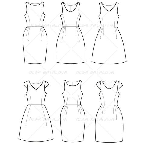 Free Fashion Flat Templates Trim Pack With Images Fashion Sketch Template