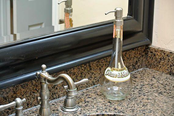 Antique Creme de Menthe Pump Soap Dispenser. Click on picture to find yours! @lookingsharpcactus