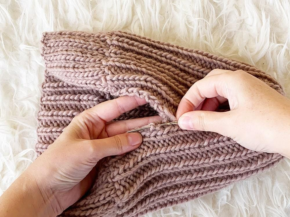 How To Knit A Hat With Straight Needles in 2020 (With