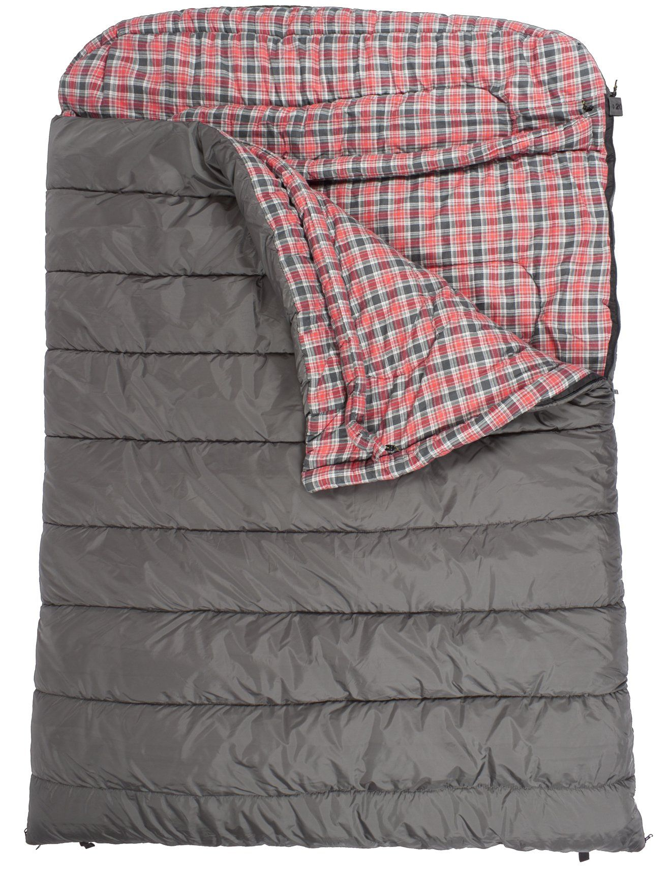 Teton Sports Mammoth Queen Size Flannel Lined Sleeping Bag 94 X 62 Grey 20 Degree F Double Outdoors