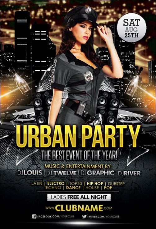 35 Awesome Flyer Templates and Flyer Designs - splash magazine - club flyer background