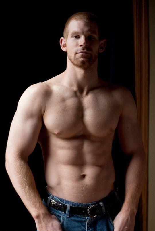Sexy shirtless ginger men was