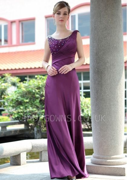 Purple Jewel Prom Dresses With Beading - 6101017 - Long Prom Dresses