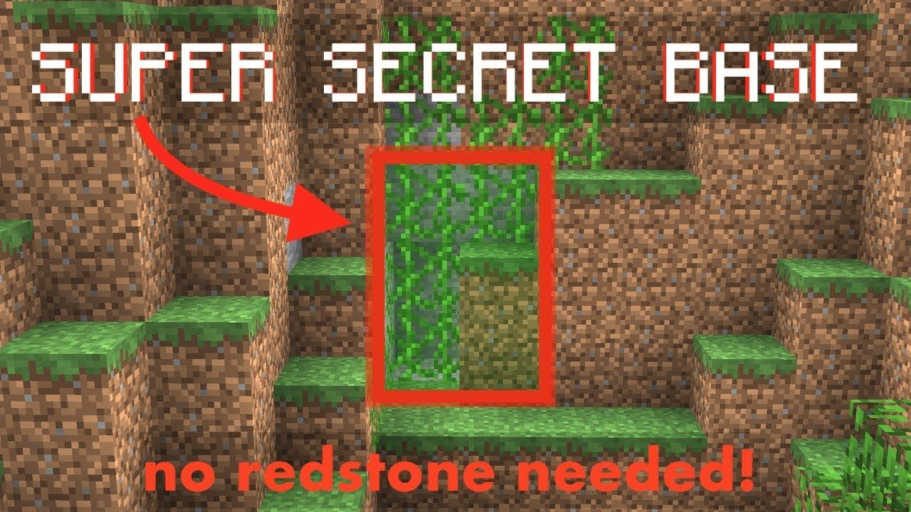 Minecraft How to build a secret base YouTube Minecraft
