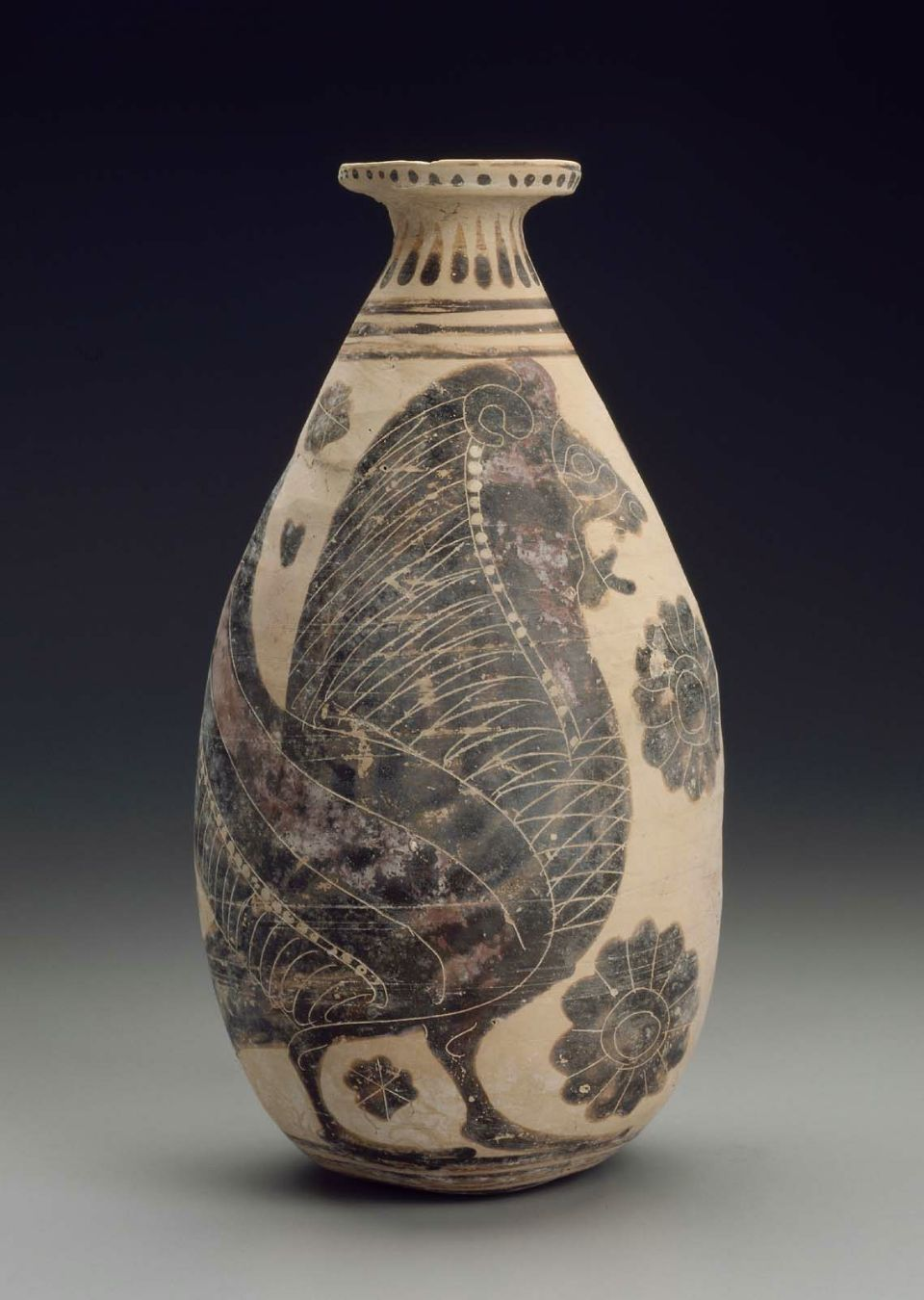 Oil Flask Alabastron Culture Greek Period Archaic