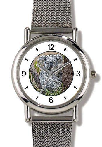 Koala Bear - WATCHBUDDY® ELITE Chrome-Plated Metal Alloy Watch with Metal Mesh Strap-Size-Small ( Children's Size - Boy's Size & Girl's Size ) WatchBuddy. $79.95