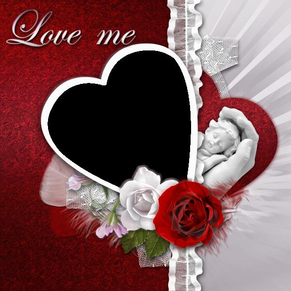 Transparent Romantic Frame Love Me