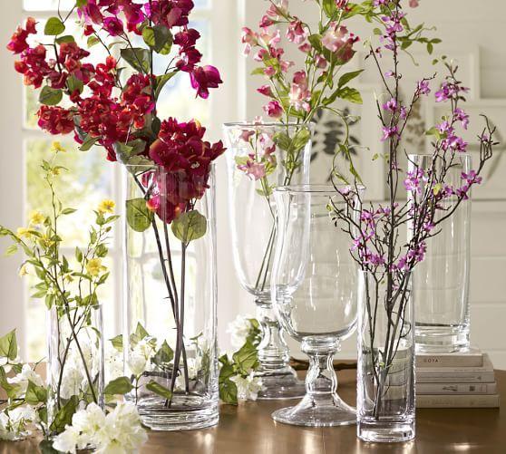 Aegean Clear Glass Vases Clear Glass Vases Glass Vase Vases Decor