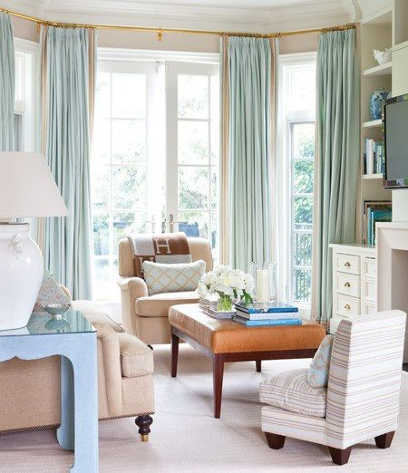 Beige Living Room Curtains