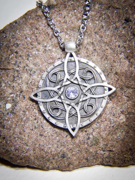 Sterling silver Amulet of Mara / Twosided skyrim pendant