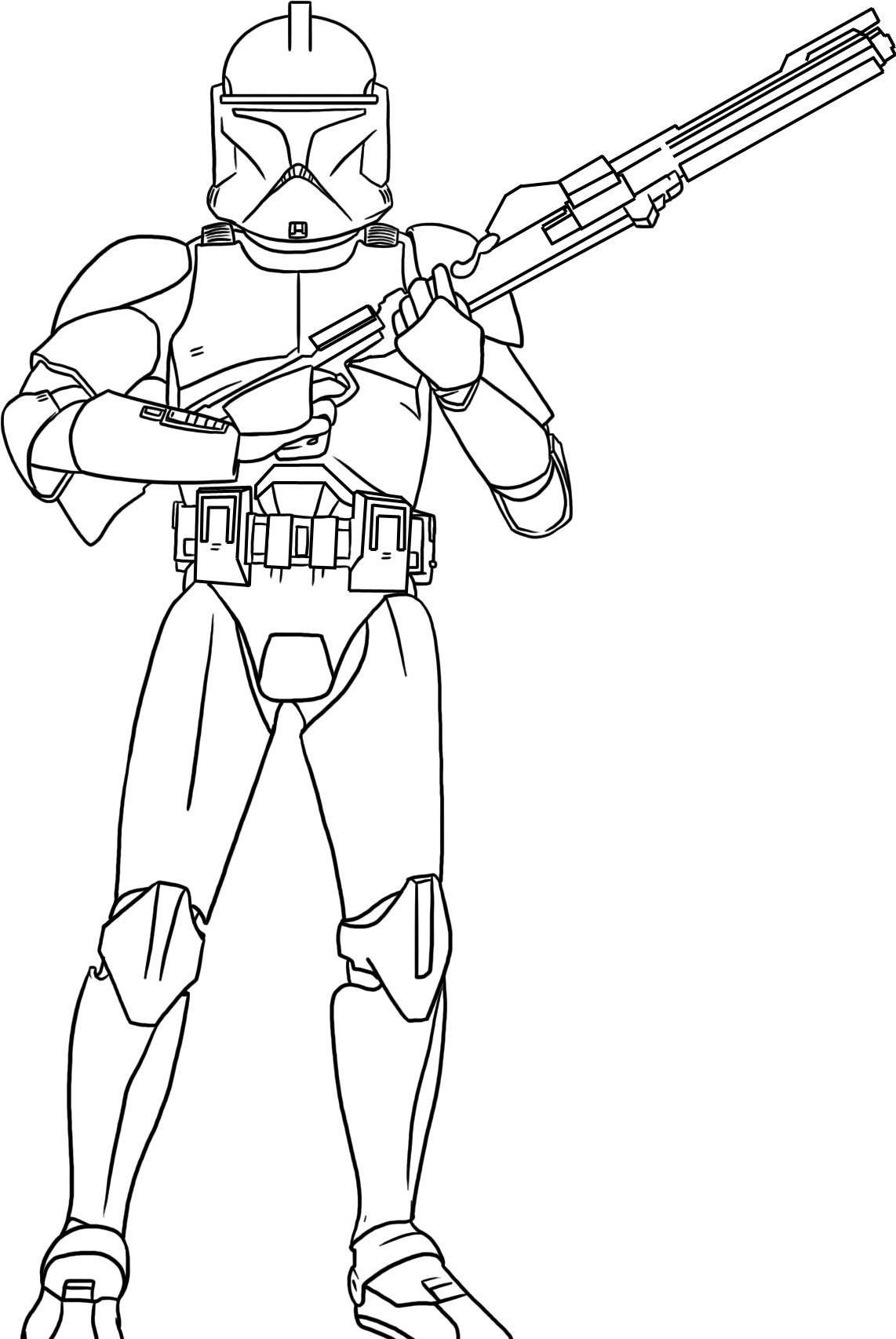 One Of The Soldiers Star Wars Coloring Pages Colorir Riscos