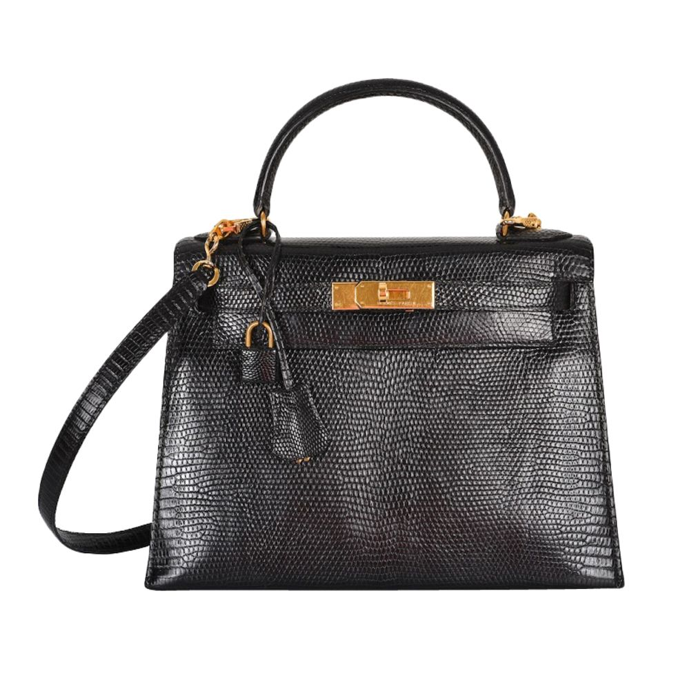 4f1d9d5f6174 1stdibs - VERY SPECIAL HERMES KELLY BAG 28cm BLACK LIZARD GOLD HARDWARE ST  explore items from 1