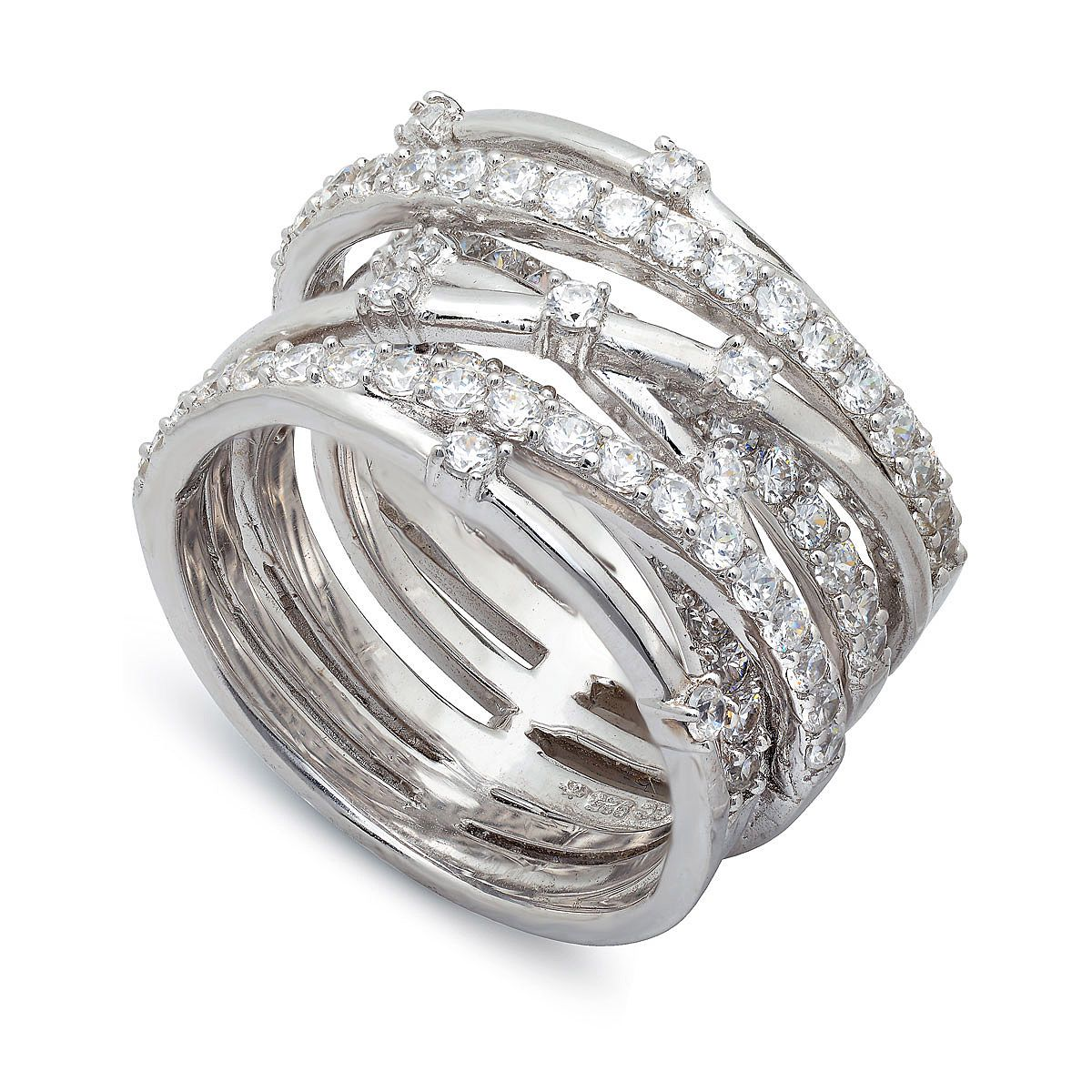 Crislu Intertwine Sterling Silver Cz Ring To Purchase Call Nch Galleries At 951 734 5989 Sterling Silver Cz Rings Entwined Ring Fashion Rings