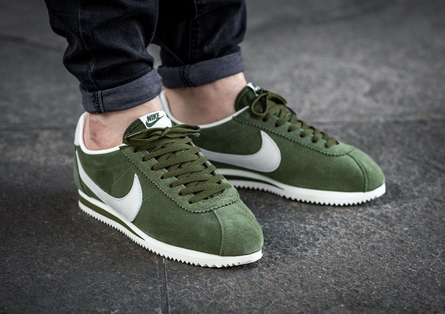 the best attitude a85d5 f507d Nike Cortez Leather SE Legion Green (daim vert) homme