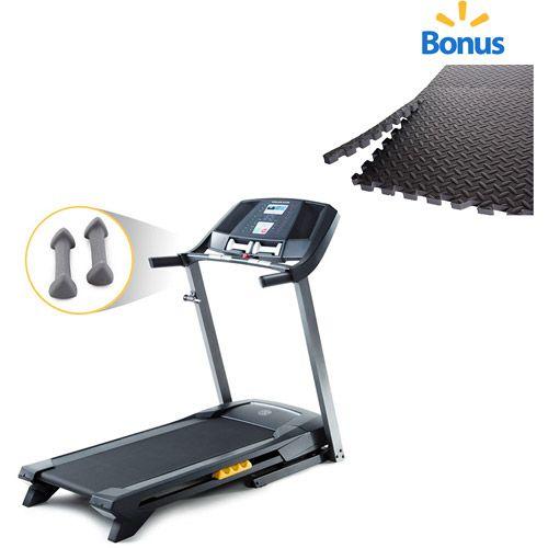 Golds Gym Trainer 410 Treadmill with Bonus 6Piece Puzzle Mat
