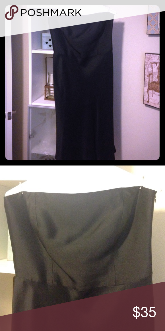 Ann Taylor strapless black cocktail dress Only worn once! Gorgeous dress in perfect condition! Satin/silky material Ann Taylor Dresses Strapless