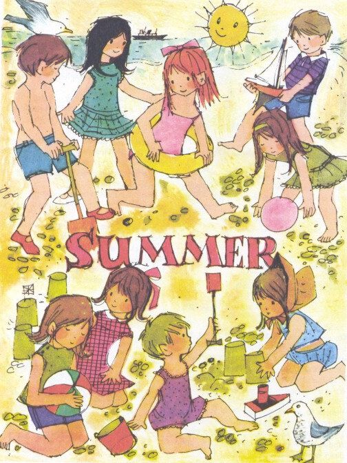 Four Seasons SUMMER 1970s vintage children's