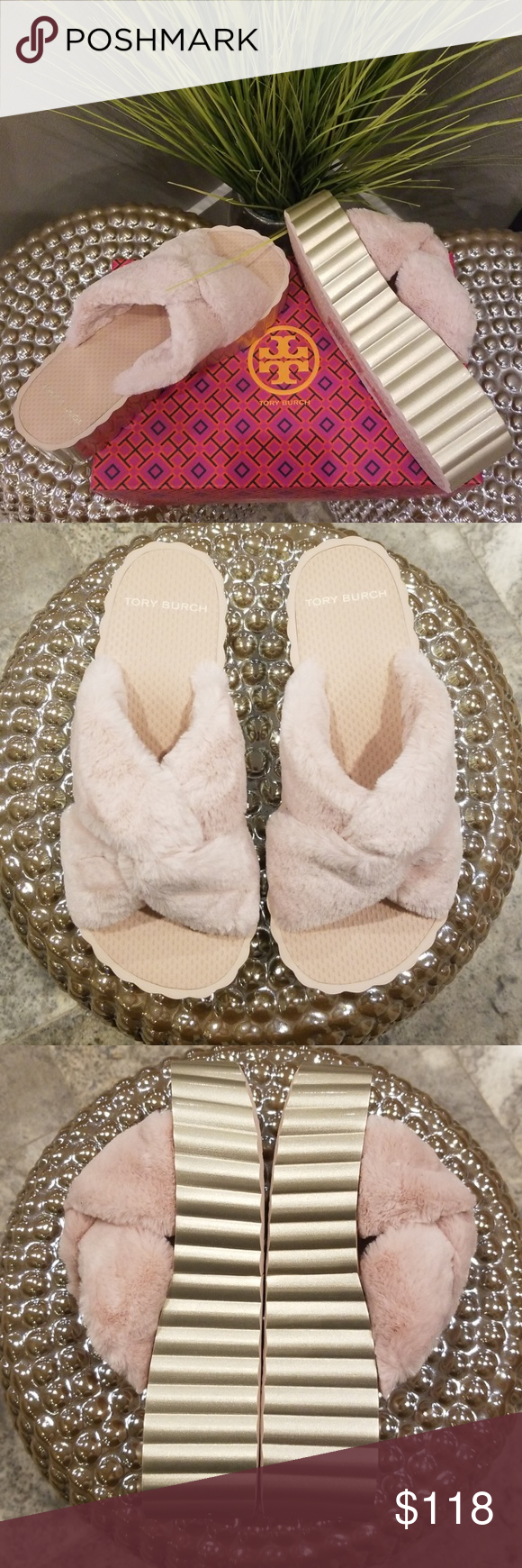 a0a786b1b TORY BURCH SCALLOP WEDGE SLIDES These Cozy  amp  Comfy Tory Burch Wedge  Slides are definitely