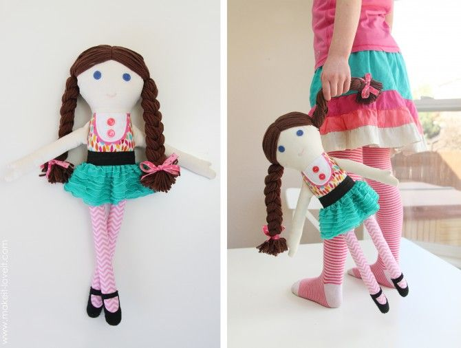 How to Make SIMPLE Fabric Rag Dolls at Home - Girl & Boy Patterns ...