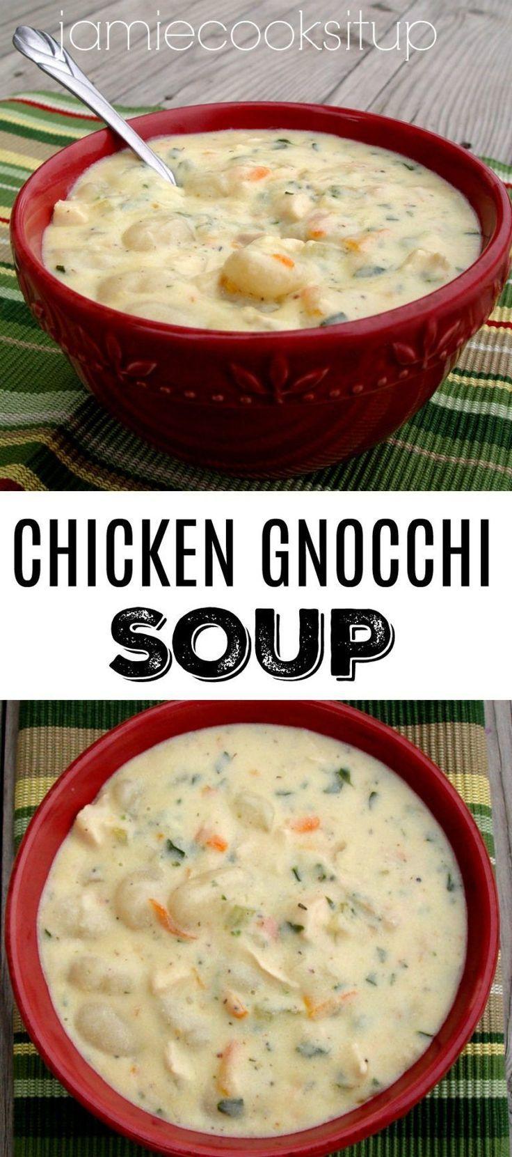 Hühnchen-Gnocchi-Suppe Letzte Woche war hier in Utah die Sonne ausgegangen. Es war wirklich raus #healthycrockpotchickenrecipes