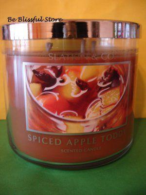 Bath and Body Works Slatkin White Grapefruit Large Full Size 3 Wick Candle Rare