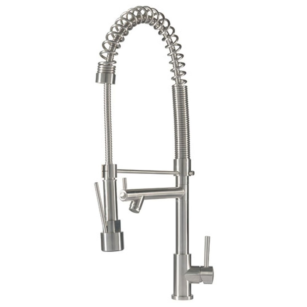 Caple Apex Stainless Steel Professional Coil Kitchen Sink Mixer Tap ...