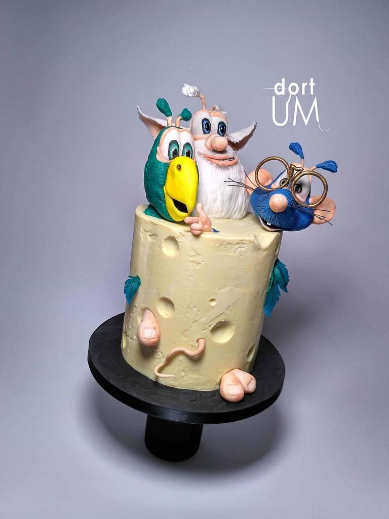 Booba And Friends Cake By Dortum Cakesdecor Birthday Cake Kids Cake Chocolate Ganache Cake