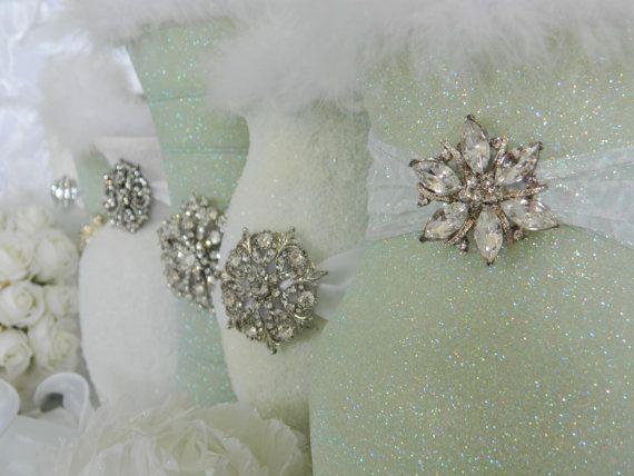 Weddings Wedding Centerpiece Decorations Sage Light Green White