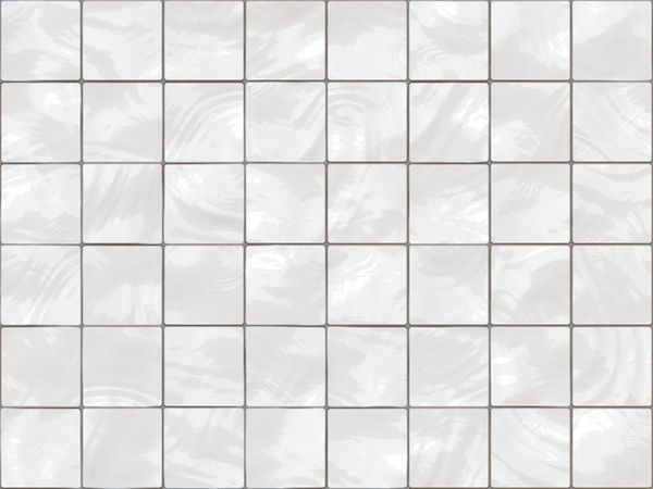 A Wall Of Old White Ceramic Tiles With Grey Mortar