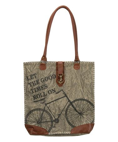 Loving this 'Good Times Roll' Canvas Tote on #zulily! #zulilyfinds