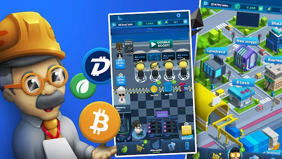 Free Crypto Mining Games earn bitcoins by playing crypto