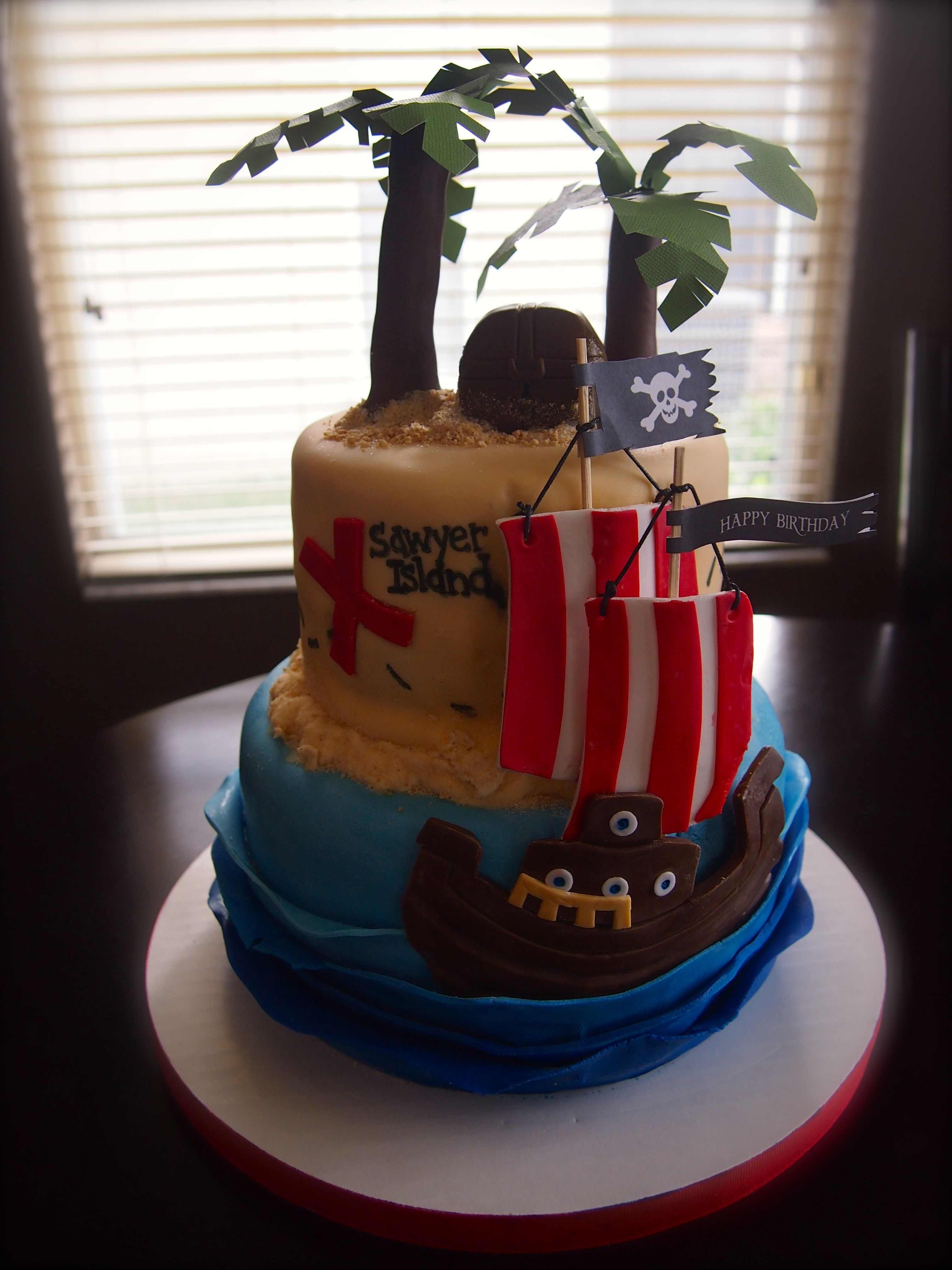 Pirate Ship Birthday Cake by Olive Parties Olive Parties Cakes